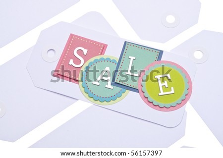 Sale Tag Background Image with SALE in Vibrant Colors.