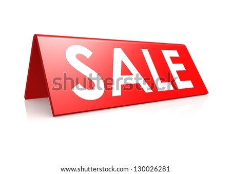 Sale tag in red