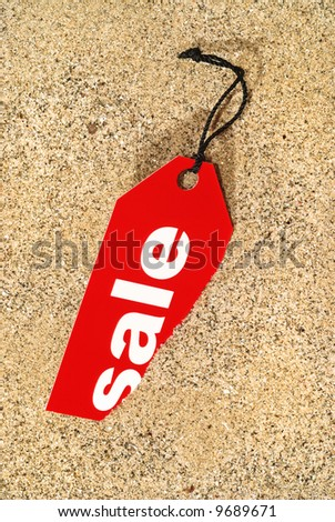 Sale Tag, on sand