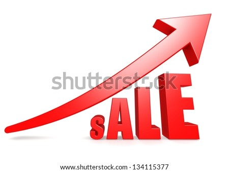 Sale with red arrow