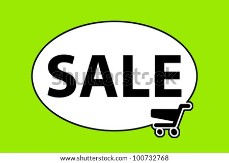 sale with shopping cart