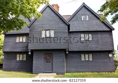 SALEM, MA - JULY 25: Historic home of Judge Corwin, known as Witch House in Salem, MA, as seen on July 25, 2011. Witch House is the only standing structure with ties to the Witchcraft Trials of 1692.