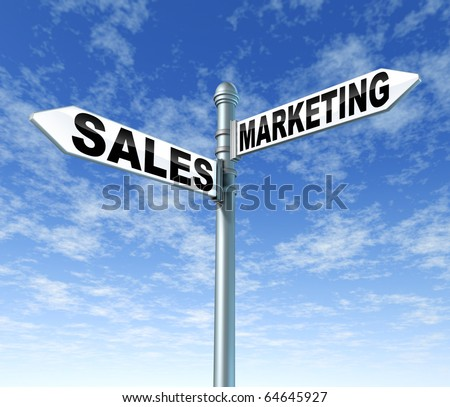 sales and marketing business signpost street opportunity selling promotion advertising market profits growth