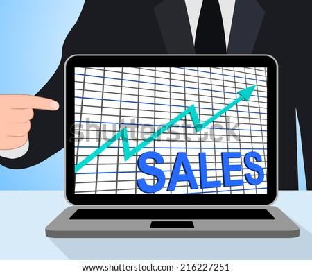 Sales Chart Graph Displaying Increasing Profits Trade
