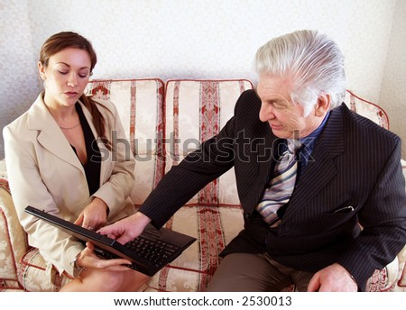 Sales Manager checking the sales results with sales person