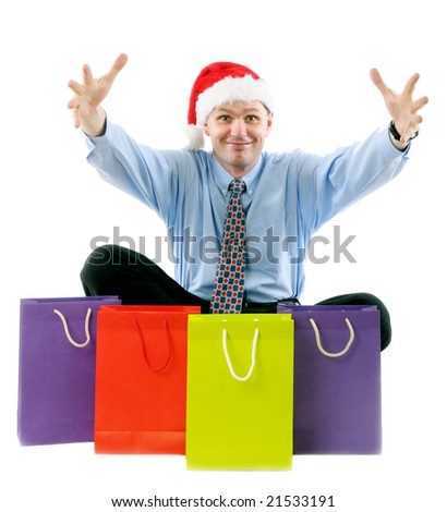 Sales manager with shopping bags