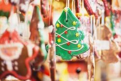 Sales of traditional Christmas sweets on the Christmas fair