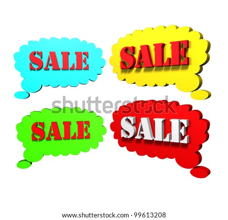 Sales post - stock photo