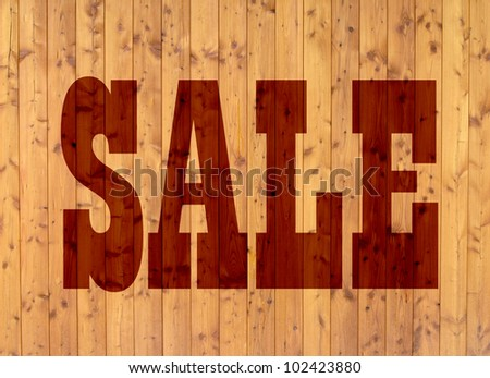sales promotion on wooden panels