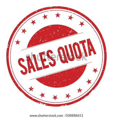Sales-Quota Stamp Sign Text Word Logo Red. Stock Photo ...