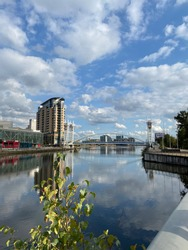 Salford quays a beautiful place for tourists