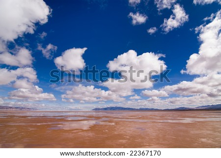 Salinas Grandes Salt Lake in North Western Argentina