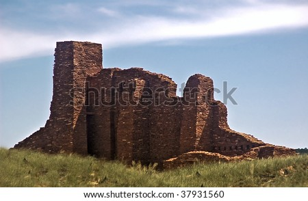 Salinas Pueblo National Monument (New Mexico)- Abo Mission ruins of an old Spanish mission