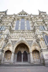Salisbury cathedral, Entrance to the Cathedral