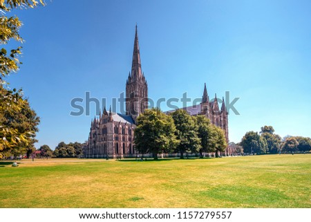 Salisbury Cathedral - Sitting in splendour within the Cathedral Close on a fine summer's day. - Shutterstock ID 1157279557