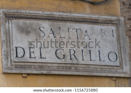 salita del grillo street name...