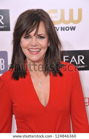 Sally Field at the 18th Annual Critics' Choice Movie Awards at Barker Hanger, Santa Monica Airport. January 10, 2013  Santa Monica, CA Picture: Paul Smith