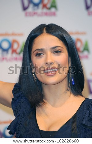 """Salma Hayek at the """"Dora The Explorer"""" 10th Anniversary Celebration with Launch of """"Beyond The Backpack"""" Campaign, Nickelodeon Animation Studio, Burbank, CA. 03-02-10"""