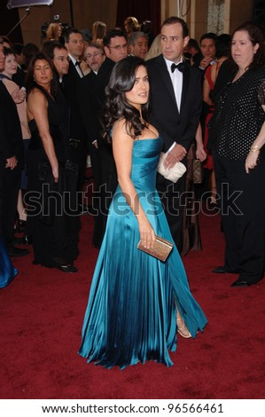 SALMA HAYEK at the 78th Annual Academy Awards at the Kodak Theatre in Hollywood. March 5, 2006  Los Angeles, CA  2006 Paul Smith / Featureflash