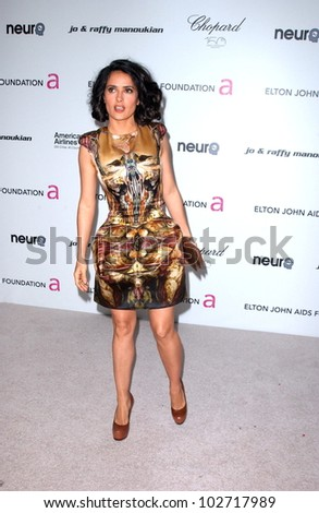 Salma Hayek at the 18th Annual Elton John AIDS Foundation Oscar Viewing Party, Pacific Design Center, West Hollywood, CA. 03-07-10