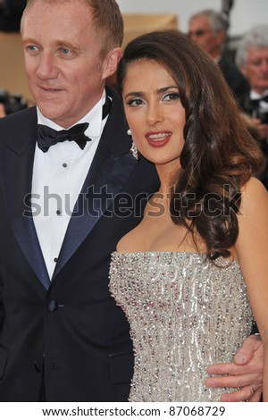 "Salma Hayek & Francois-Henri Pinault at the gala premiere for ""Midnight in Paris"" the opening film at the 64th Festival de Cannes. May 11, 2011  Cannes, France Picture: Paul Smith / Featureflash"