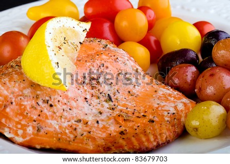 Salmon fillet for dinner.