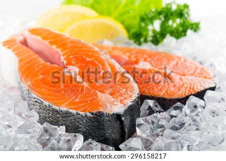 Salmon, Seafood, Salmon Steak.