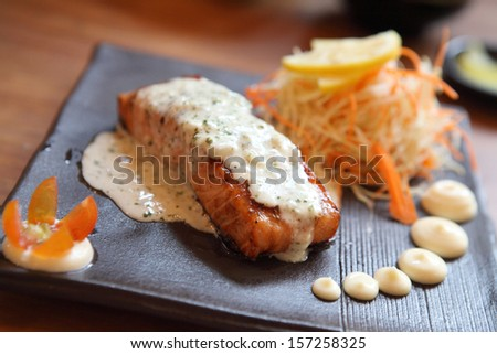 salmon steak japanese style
