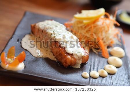 salmon steak japanese style
