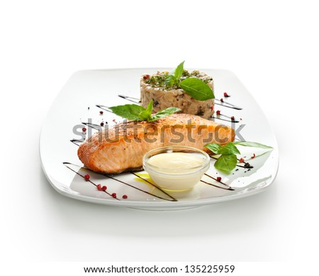 Salmon Steak with Risotto