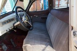 Salon of a retro car close-up. Old vintage car