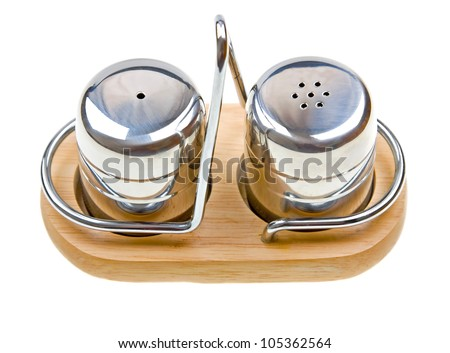 salt and pepper shakers isolated on white background