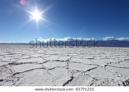 Salt Badwater Formations in Death Valley National Park