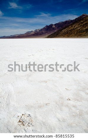 Salt Bed in Death Valley National Park, The lowest spot in the Western Hemisphere.
