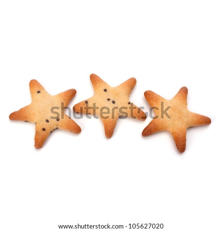 Salt cookies isolated on white background cutout