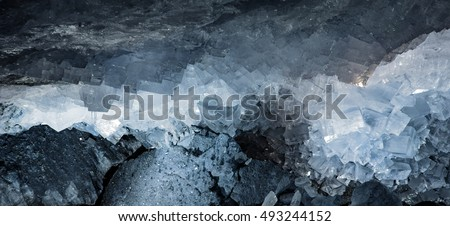 Salt Crystals in a Potash Mine #493244152