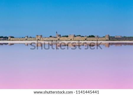 Salt flats of Aigues Mortes, France
