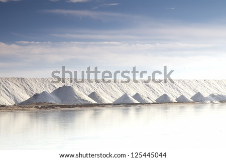 Salt industry, Ukraine, Crimea. Salt for food and treatment