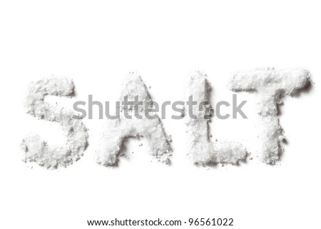 Salt isolated on white background