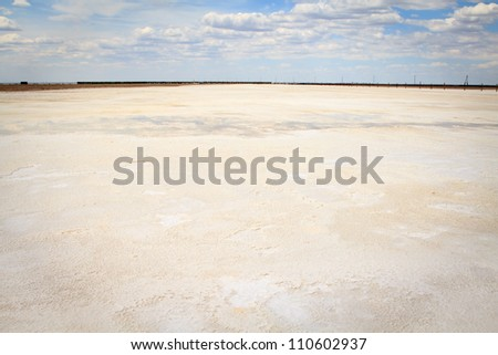 Salt Lake Baskunchak, Russia - stock photo