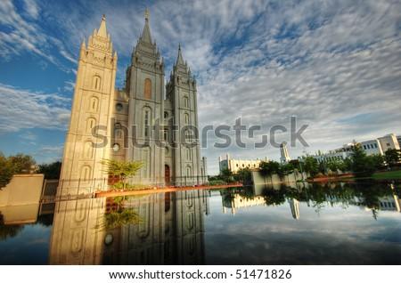 Salt Lake City LDS Temple Morning Glory