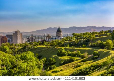 Salt Lake City Views with Capital dome #1114101803
