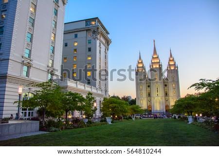 Salt Lake Temple in  Salt Lake City, Utah, USA #564810244