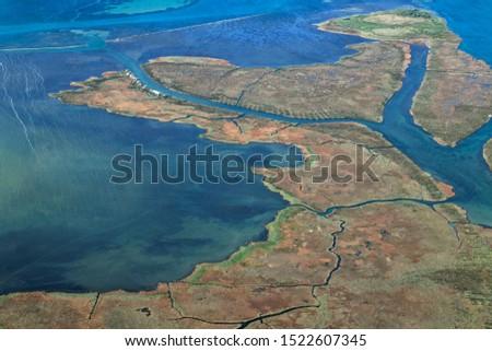 Salt marsh on the Neretva River delta, Croatia