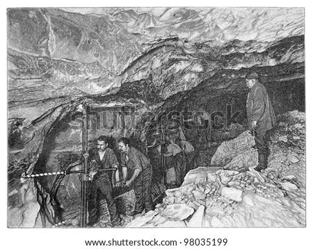 salt mining   vintage...