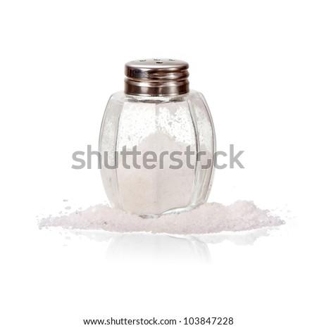 Salt shaker isolated on white
