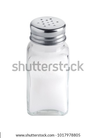 Salt shaker isolated on white background