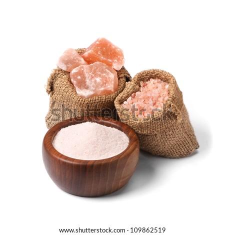 salt spices and salt Hymalaya, pink salt