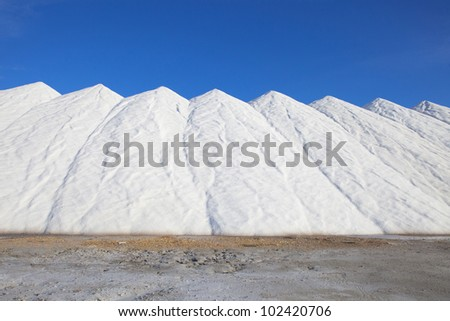 salt stored in piles for consumption