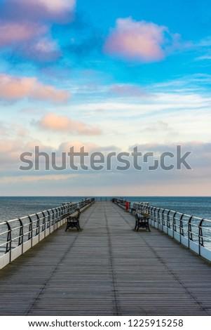 Saltburn pier after sunrise. #1225915258